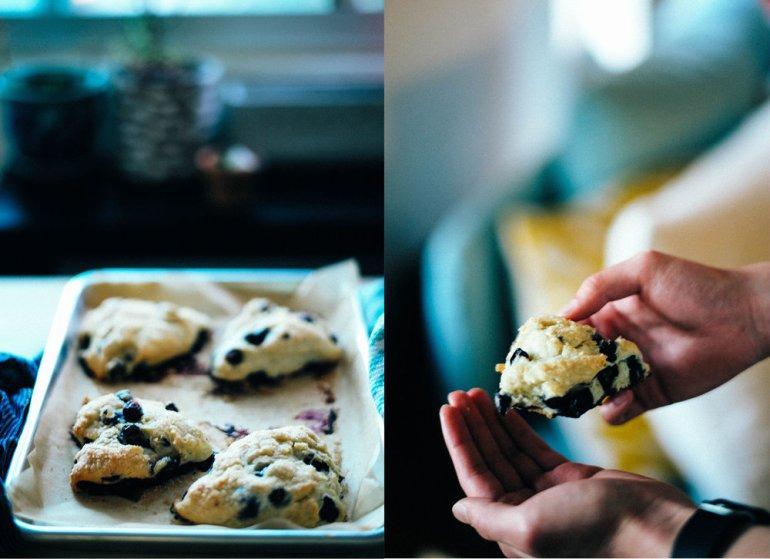 Delicious and healthy vegan lemon blueberry scones